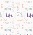 seamless type pattern life rose vector image vector image