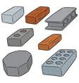 set concrete construction block vector image vector image