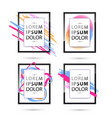 set of frame for your text vector image vector image