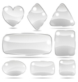set opaque glass shapes vector image