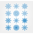set snowflakes isolated vector image vector image