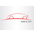 Silhouette of the car vector image vector image