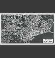 singapore city map in retro style outline map vector image vector image