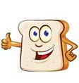 slice bread mascot cartoon vector image vector image