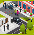 special agent isometric banners vector image vector image