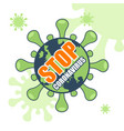 stop coronavirus poster with planet earth and vector image vector image