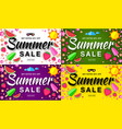summer sale template horizontal flat banners vector image