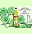 sunflower oil ads poster banner template vector image