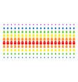 terrorist balaklava shape halftone spectral grid vector image vector image