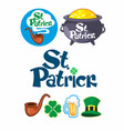 traditional saint patricks day icons set vector image vector image