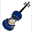 utah state fiddle vector image vector image
