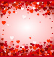 valentines day background with hearts holiday vector image vector image
