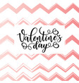 valentines day lettering poster vector image vector image
