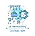 vr manufacturing concept icon vector image vector image