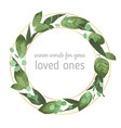 wedding invite invitation card floral greenery vector image vector image