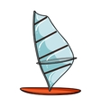 Windsurf board icon in cartoon style isolated on vector image vector image