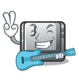 with guitar button j on a computer character vector image