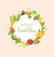 world food day banner template with ripe organic vector image