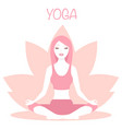 yoga logo - emblem design on vector image vector image