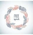Feather Wreath in Boho Style vector image