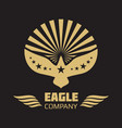heraldic eagle logo on black background vector image