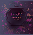 2020 happy new year poster abstract polygonal vector image