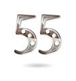 55 years anniversary celebration design vector image vector image
