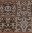 a collection of ceramic tiles in brown retro vector image vector image