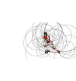 abstract image of soccer player with ball vector image