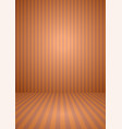 abstract orange color vintage striped room vector image vector image