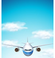 airplane on the sky vector image vector image