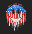 America usa flag smile emoticon emoji artwork