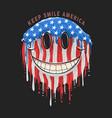 america usa flag smile emoticon emoji artwork vector image vector image