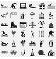 amusement icons set simple style vector image vector image