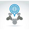 an international meeting Speech bubble w vector image