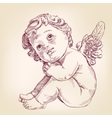 angel or cupid little baby l hand drawn vector image vector image