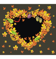 Autumn heart background vector image
