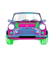 beautiful and a pink car vector image