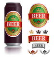 beer label visual on black drinks can 500ml vector image