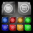 Big sale icon sign Set of ten colorful buttons vector image