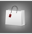 Blank paper shopping bags with sale tag vector image vector image