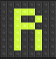 blocks in english capital letter r alphabet set vector image