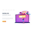 bloging concept landing page vector image