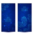 Blue floral banners vector image vector image