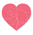 broken heart on a white background vector image vector image