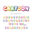 cartoon bright font for kids paper cut out abc vector image vector image