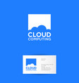 cloud computing logo communication network vector image