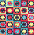 colored vintage rhombus seamless pattern with vector image vector image