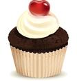 Cream muffin vector image vector image