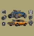 custom cars repair service concept vector image vector image